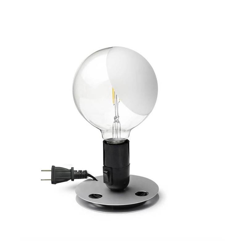 Lampadina Castiglioni Flos.Flos Lampadina Led Table Lamp Black 110v Ul By Achille Castiglioni
