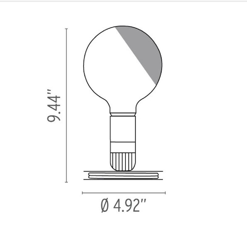 Indexbild 4 - Flos LED Leuchtmittel Tischleuchte Schwarz 110V Ul By Achilles Castiglioni