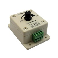 LED Dimmer 12-24V 8A with Rotary Potentiometer