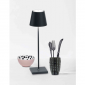 Ai Lati POLDINA Dark grey LED Table Lamp 2W 3000K rechargeable portable IP54 for Outdoor