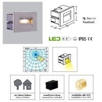 PAN INC59000 Fast LED 3W 45° 3000K 90lm Incasso Segnapasso IP65