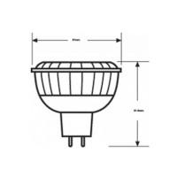 Osram LED Lamp Parathom Pro MR16 20 Advanced 5,5W-20W 36° GU5.3 3000K