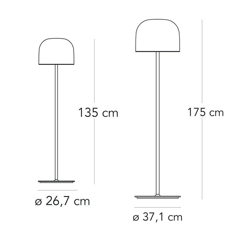 Fontana Arte Equatore LED Glass Floor Lamp By Gabriele and ...