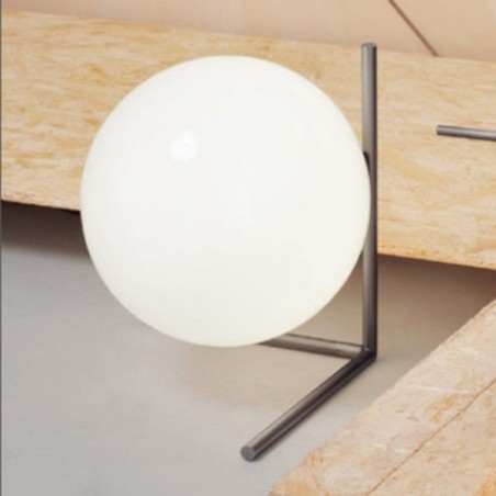 Flos IC T2 Table Lamp Glass Chrome