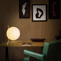 Flos IC T2 Table Lamp Glass and Brushed Brass F3172059
