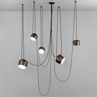 Flos AIM LED Suspension Pendant Lamp Bronze Anodized Brown F0090026