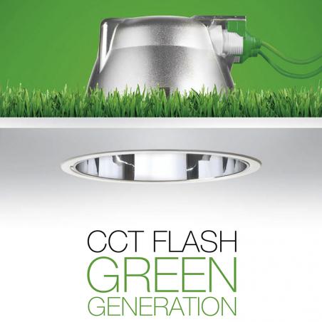 Targetti faretto Incasso cct flash fisso 54000EX 18W Fluorescenza dimmerabile