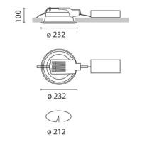 iGuzzini 3304.039 Faretto Incasso Sistema Easy Comfort 2x26W Fluorescente