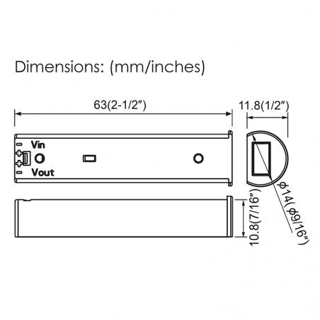 Lampo Sensore On-Off 12V-24V Per Porte Mobili Ante