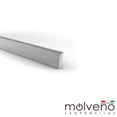 Molveno Lighting Diamante 707 Aluminum Profile for LED - 2 Meters - DM707