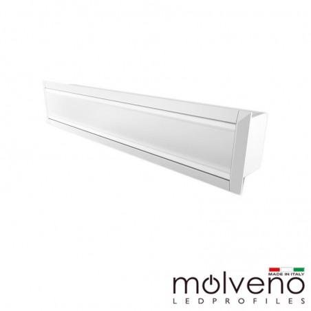 Molveno Lighting Diamante 33 Recessed Aluminum Profile for LED - 2 Meters - White DM33R