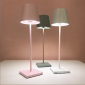 Ai Lati POLDINA Pink LED Table Lamp 2W 3000K rechargeable portable IP54 for Outdoor