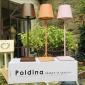 Ai Lati POLDINA orange LED Table Lamp 2W 3000K rechargeable portable IP54 for Outdoor