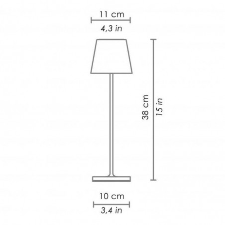 Ai Lati POLDINA LED Limited Edition Table Battery Lamp USB Rechargeable Dimmable For Outdoor