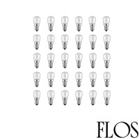 Flos Kit N. 30 LED Bulbs E14 2,7W 220-240V Warm White 2700K For Chandelier 2097 By Gino Sarfatti