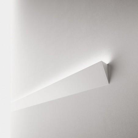 Lampo Kit Profilo Veletta Da Parete In Alluminio Bianco 2 Metri A Luce Indiretta