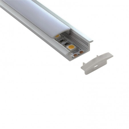 Lampo Kit Profilo Da incasso In Alluminio 2 Metri Per Strip Led
