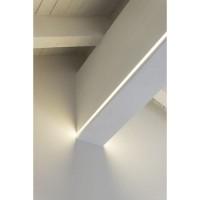 Lampo Kit Profilo Largo In Alluminio 2 Metri A Superficie Per Due Strip Led