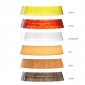 Flos Bon Jour LED Table Lamp Top Chrome And Crown Yellow Dimmable