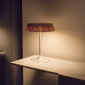 Flos Bon Jour LED Table Lamp Dimmable Top Chrome And Crown Rattan