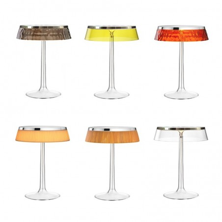 Flos Bon Jour LED Table Lamp Dimmable Top Chrome And Crown Amber
