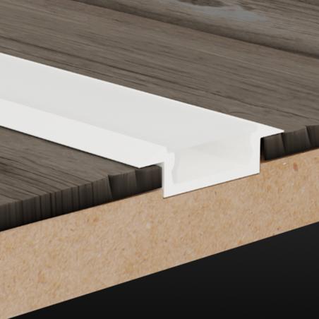Lampo Kit Profilo Calpestatile Da Incasso In Alluminio Da 2 Metri Per Strisce Led