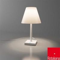 Rotaliana Dina+ LED Lampada da Tavolo bianca Batteria Ricaricabile Porta USB