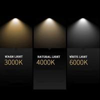 Lampo DIK LED GU10 Lampadina 10W TRICOLOR 240V 120° 3000K/4000K/6000K switch integrato