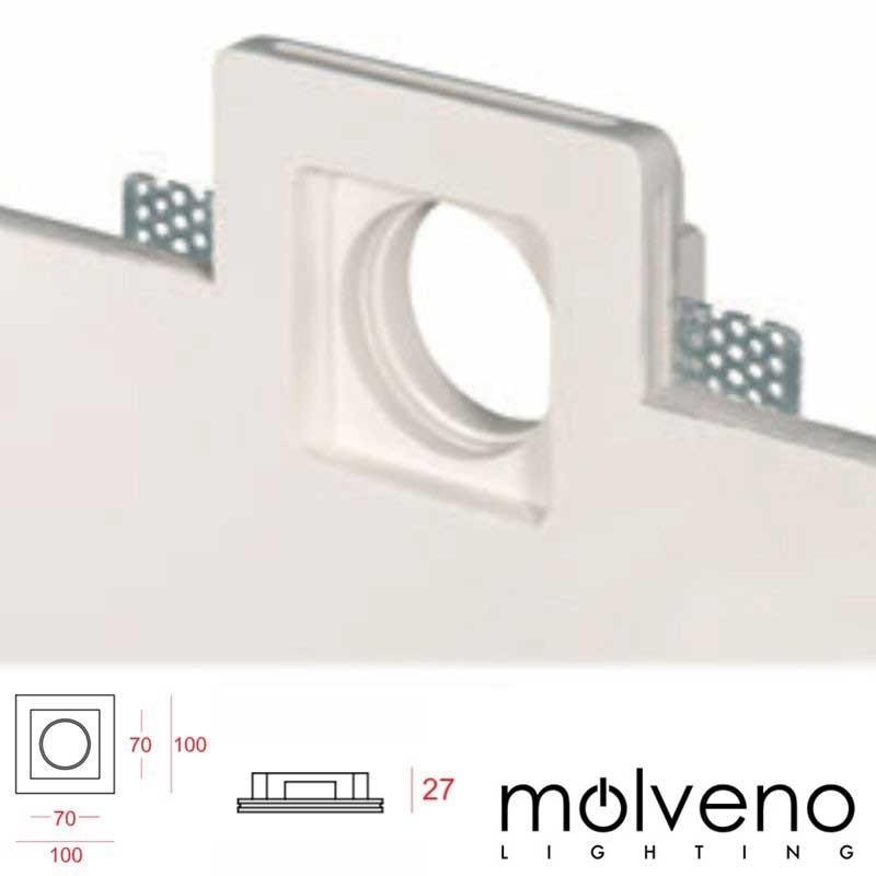 MOLVENO LIGHTING Aragon Flat LED Recessed Spotlight Plaster Gypsolyte