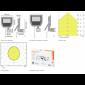 Osram LEDVANCE Floodlight LED 20W IP65 2200lm 100DEG Sensor PIR Outdoor Black Spotlight