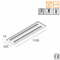 Novalux 50W UGR LED 8025lm 1200x300mm Power Supply Included