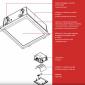 Fabbian Plano Recessed Spotlight 2x26W Square Opaline Glass G24q3