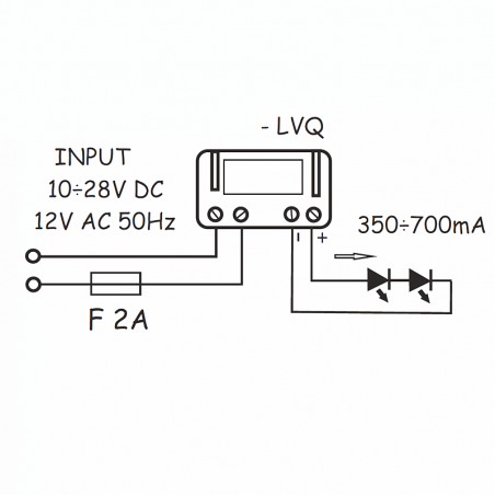 current voltage converter QLT LVQ 700mA 3-6 LEDs