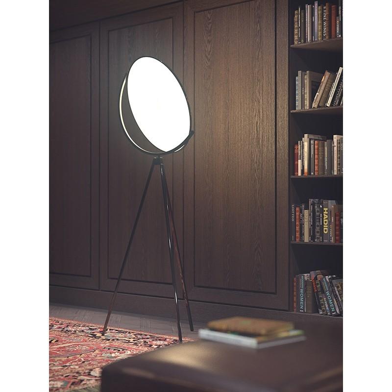 Flos Superloon LED 45W Lampada da Terra Cromo dimmer 4000lm F6630057 ...