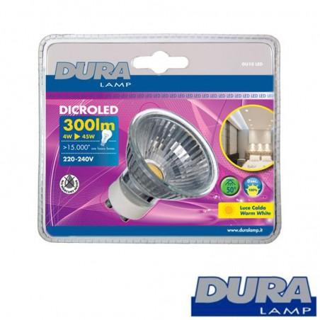 Duralamp DICRO LED 4W 300lm GU10 Bulb Lamp Warm White