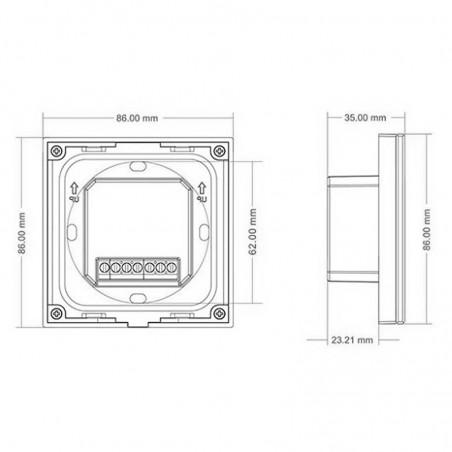 Lampo Controller RGB Touch Da Parete Per Impianti 12V-24V Gestione e Dimmer