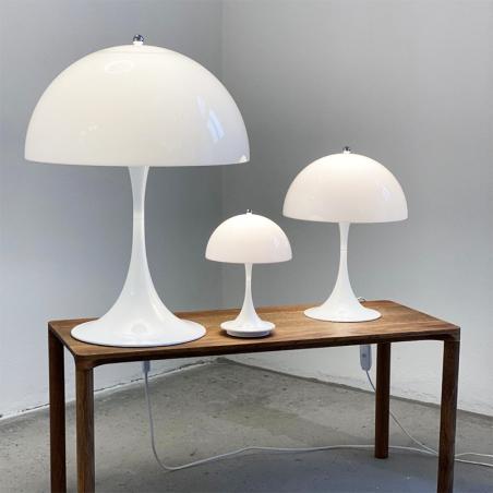 Louis Poulsen Panthella Portable LED USB Table Lamp White Rechargeable Portable By Verner Panton