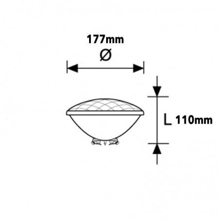 Duralamp PAR56 Lampada Piscina LED 22W 6450K 110° 1100lm IP68