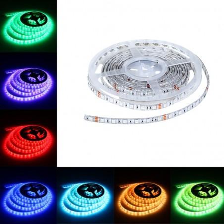 Lampo Strip Striscia LED RGB 5050 60led/m 24V 14.4W/mt Bobina 5 Metri 72W Flessibili Ottima Qualità