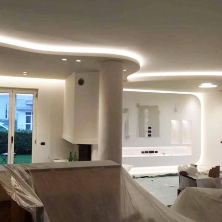 Lampo Strip Striscia LED Doppia 3528 480led/m 24V 38.4W/mt Bobina 2.5 Metri 96W Flessibili Alta luminosità