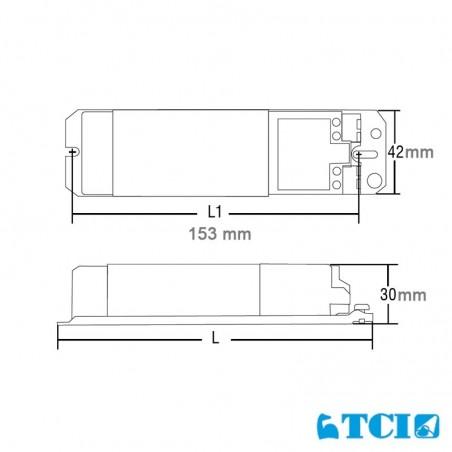 TCI 50 Str/12 mechanical 12V low voltage transformer for LED and halogen bulbs