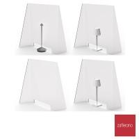 Zafferano Light Window Separé da tavolo in PMMA Bifacciale In Plexiglass Rettangolare