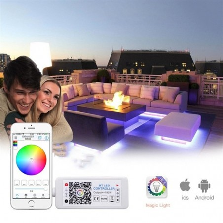 Lampo Kit Wifi RGB Intelligente di Controllo Striscia LED RGB APP Amazon Alexa Google Home