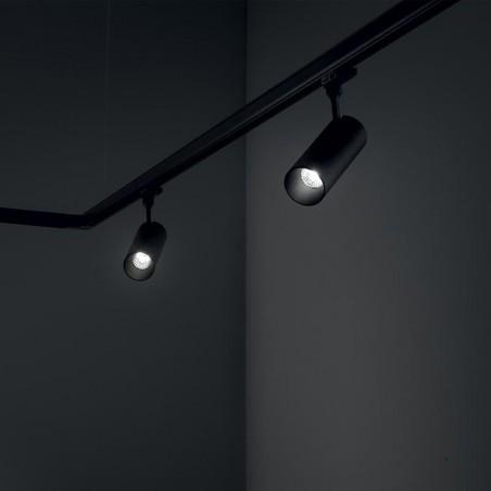 Ideal Lux Smile 15W LED COB Proiettore da Binario Cilindrico Faretto Orientabile