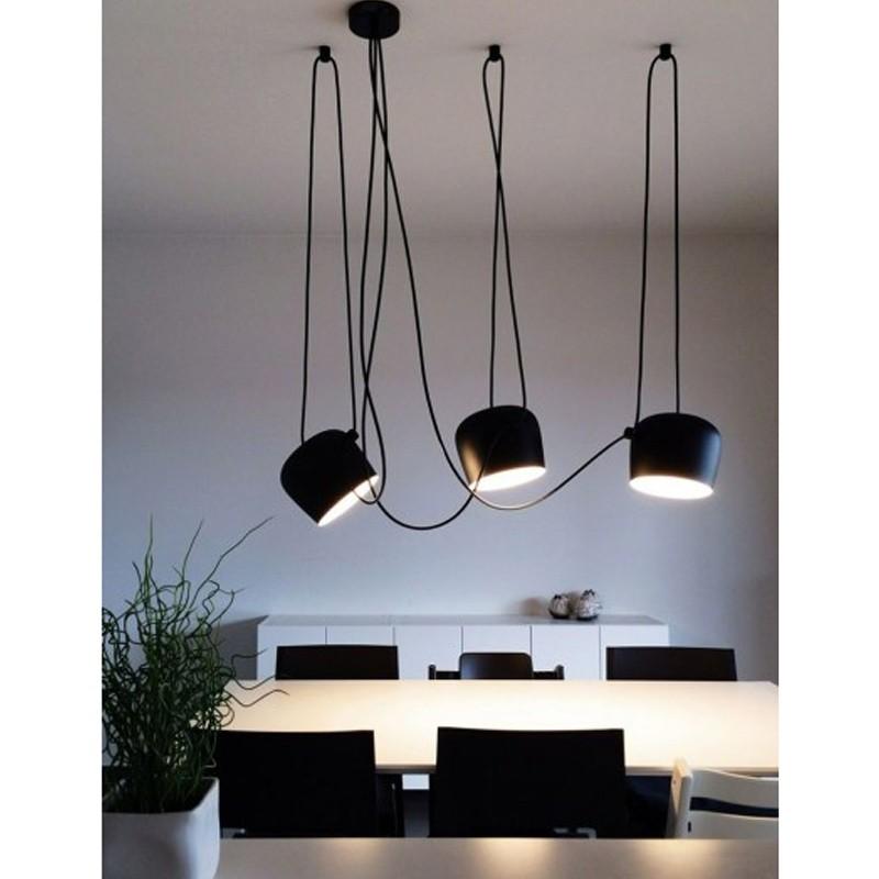 Flos aim x 3 punti luce led lampada sospensione soffitto for Aim flos prezzo