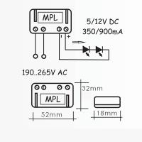 Power supply QLT MPL1 1.5W 6V 350mA for LED modules