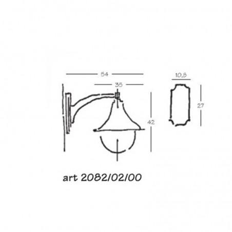 Nobile Lampara Lampada da Parete Per Esterno IP43 Antracite