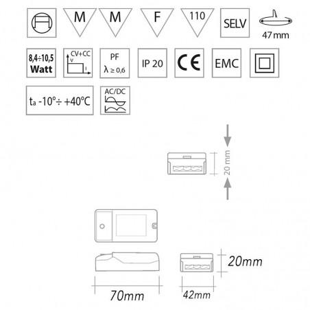 Nice303 compact Led Controlgear 1-3 led 700mA Alimentatore compatto led di potenza