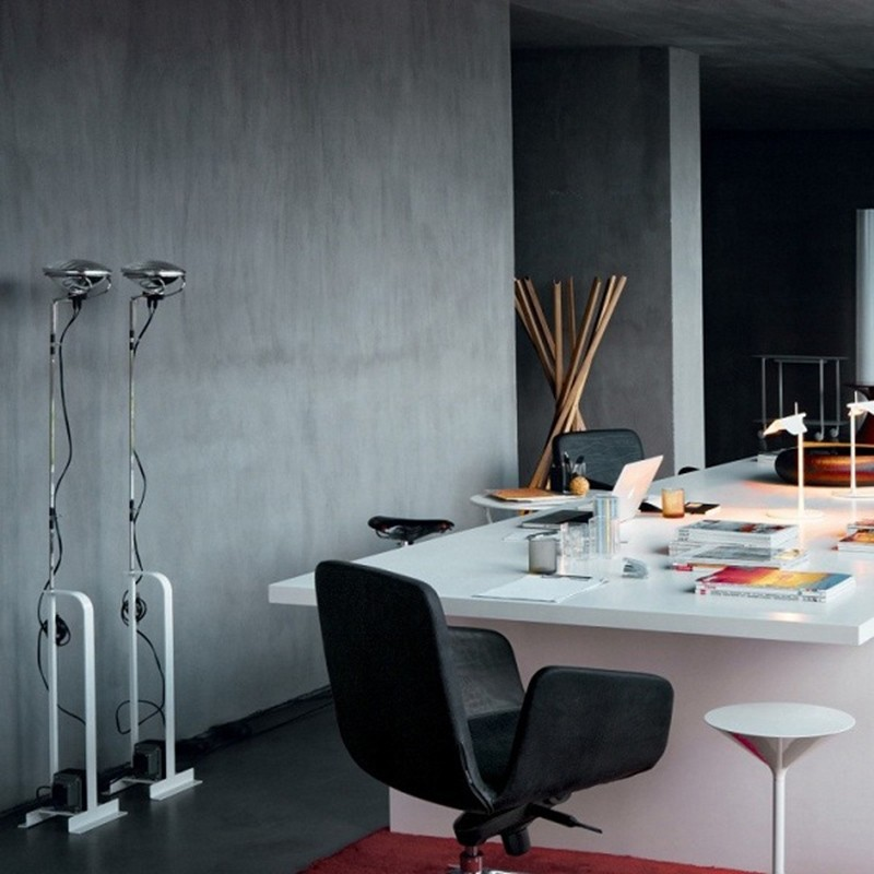 Flos toio floor lamp white dimmable 230240v castiglioni f7600009 flos toio floor lamp white aloadofball Gallery