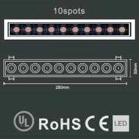 Laser Blade Recessed Linear Adjustable Downlight LED 20W 3000K Warm Light 1600 lm White/Black Color